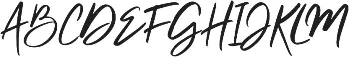 Clattering Regular otf (400) Font UPPERCASE