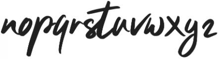 Clattering Regular otf (400) Font LOWERCASE