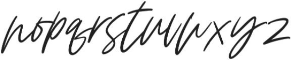 Claude Slant otf (400) Font LOWERCASE