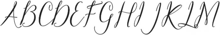 Claudette Bold otf (700) Font UPPERCASE
