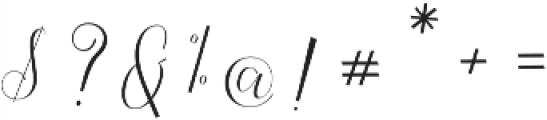 Claudette otf (400) Font OTHER CHARS