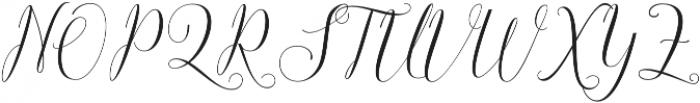 Claudette otf (400) Font UPPERCASE
