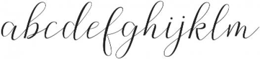 Claudette otf (400) Font LOWERCASE