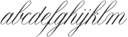 Claudya Script otf (400) Font LOWERCASE