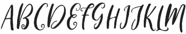 Cleverda Regular otf (400) Font UPPERCASE