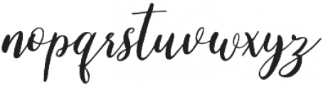 Cleverda Regular otf (400) Font LOWERCASE