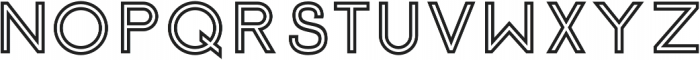 Click Bold Stroked otf (700) Font UPPERCASE