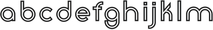 Click Bold Stroked otf (700) Font LOWERCASE