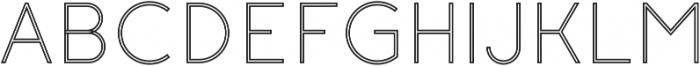 Click Light Stroked otf (300) Font UPPERCASE