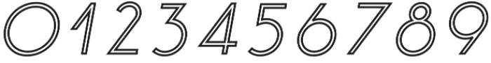 Click Medium italic stroked otf (500) Font OTHER CHARS