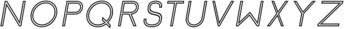 Click Medium italic stroked otf (500) Font UPPERCASE
