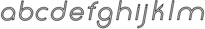 Click Medium italic stroked otf (500) Font LOWERCASE
