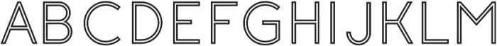 Click Medium stroked otf (500) Font UPPERCASE