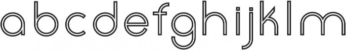 Click Medium stroked otf (500) Font LOWERCASE