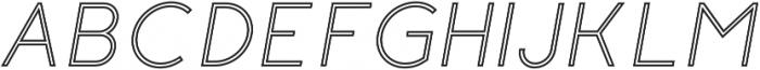 Click Regular-italic-stroked otf (400) Font UPPERCASE