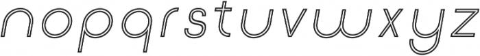 Click Regular-italic-stroked otf (400) Font LOWERCASE