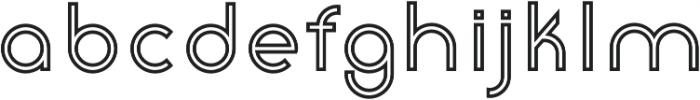 Click SemiBold Stroked otf (600) Font LOWERCASE
