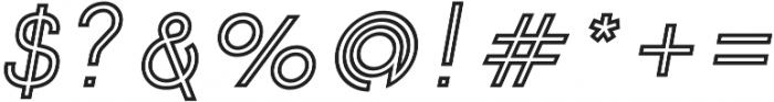 Click SemiBold italic Stroked otf (600) Font OTHER CHARS