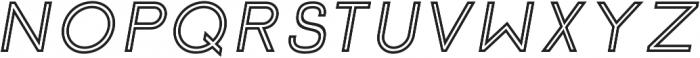 Click SemiBold italic Stroked otf (600) Font UPPERCASE