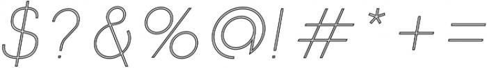 Click UltraLight Italic Stroked otf (300) Font OTHER CHARS