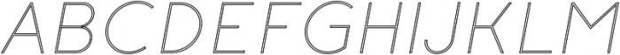 Click UltraLight Italic Stroked otf (300) Font UPPERCASE