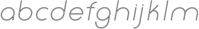 Click UltraLight Italic Stroked otf (300) Font LOWERCASE