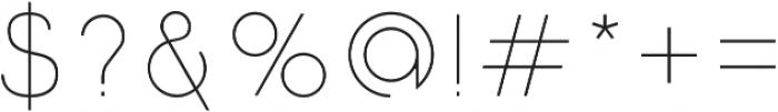 Click UltraLight otf (300) Font OTHER CHARS