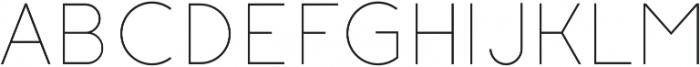 Click UltraLight otf (300) Font UPPERCASE