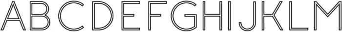 Click regular stroked otf (400) Font UPPERCASE