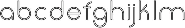 Click regular stroked otf (400) Font LOWERCASE