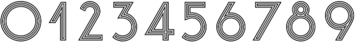 Click stripes otf (400) Font OTHER CHARS