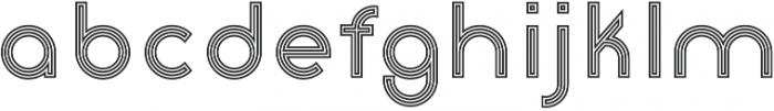 Click stripes otf (400) Font LOWERCASE