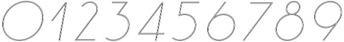 Click thin italic stroked otf (100) Font OTHER CHARS