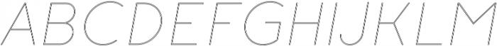Click thin italic stroked otf (100) Font UPPERCASE