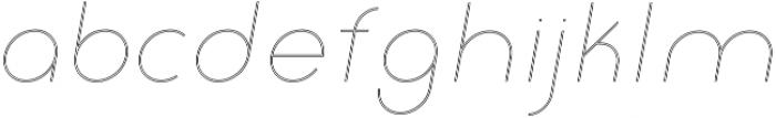 Click thin italic stroked otf (100) Font LOWERCASE