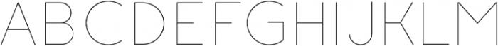 Click thin otf (100) Font UPPERCASE