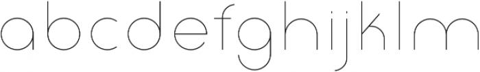 Click thin otf (100) Font LOWERCASE