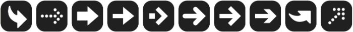 ClickBits ArrowPods1 otf (400) Font OTHER CHARS