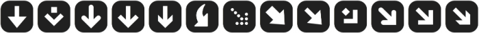 ClickBits ArrowPods1 otf (400) Font LOWERCASE