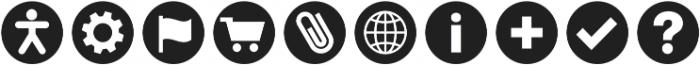 ClickBits IconBullets otf (400) Font OTHER CHARS