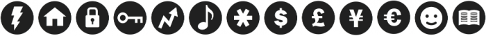 ClickBits IconBullets otf (400) Font UPPERCASE