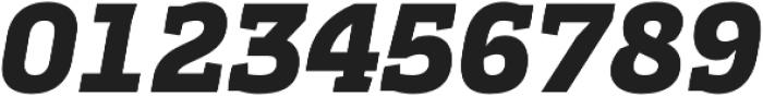 Cline Slab Black Italic otf (900) Font OTHER CHARS