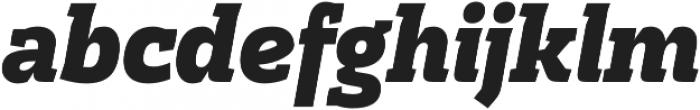Cline Slab Black Italic otf (900) Font LOWERCASE