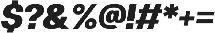 Clinica Pro Black Italic otf (900) Font OTHER CHARS