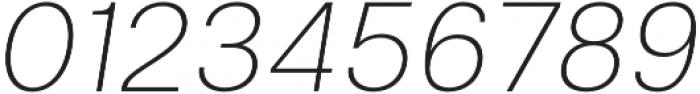 Clinica Pro ExtraLight Italic otf (200) Font OTHER CHARS