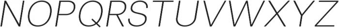 Clinica Pro ExtraLight Italic otf (200) Font UPPERCASE