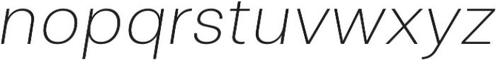 Clinica Pro ExtraLight Italic otf (200) Font LOWERCASE