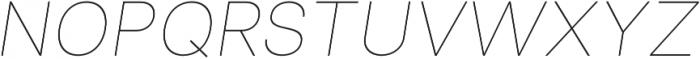 Clinica Pro Thin Italic otf (100) Font UPPERCASE