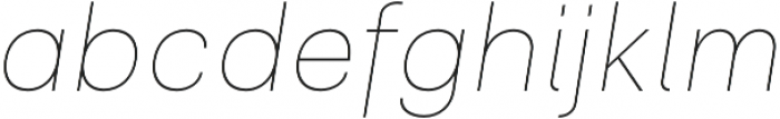 Clinica Pro Thin Italic otf (100) Font LOWERCASE
