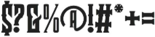 Clobot otf (400) Font OTHER CHARS